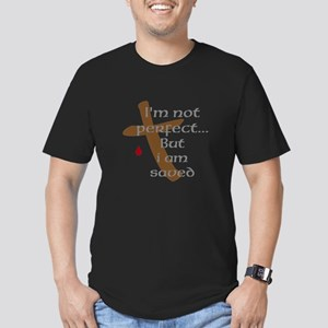 I'm Not Perfect Men's Fitted T-Shirt (dark)