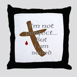 I'm Not Perfect Throw Pillow