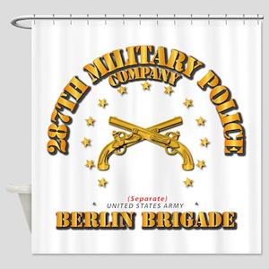 287th MP Company - Berlin Brigade Shower Curtain
