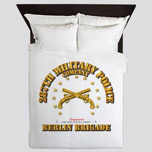 287th MP Company - Berlin Brigade Queen Duvet