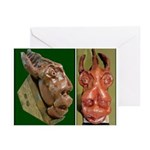 Primitive Inspired Graphics Greeting Cards (Pk of