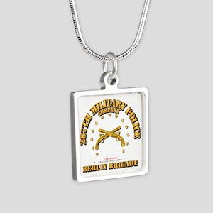 287th MP Company - Berlin Silver Square Necklace