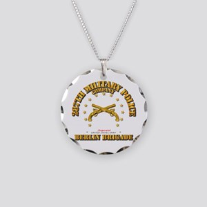 287th Mp Company - Berlin Br Necklace Circle Charm