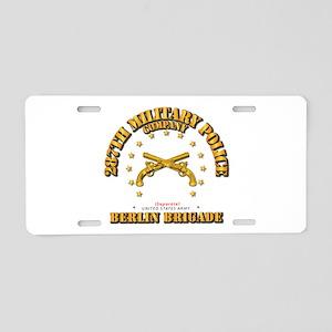 287th MP Company - Berlin B Aluminum License Plate
