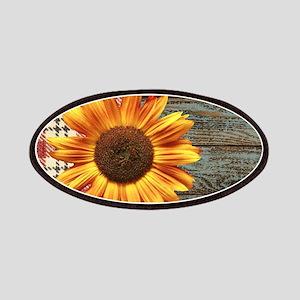 primitive country plaid burlap sunflower Patch