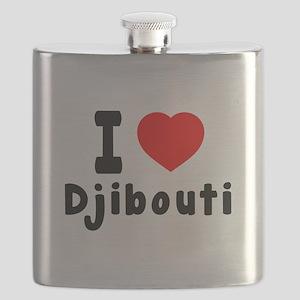 I Love Djibouti Flask