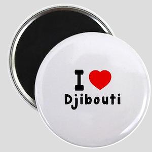 I Love Djibouti Magnet