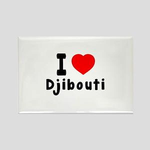 I Love Djibouti Rectangle Magnet