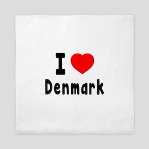 I Love Denmark Queen Duvet