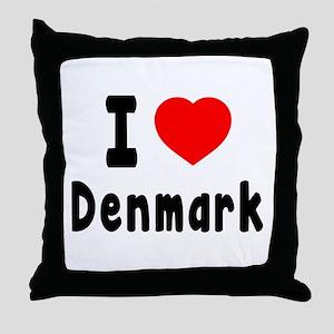 I Love Denmark Throw Pillow