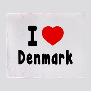 I Love Denmark Throw Blanket