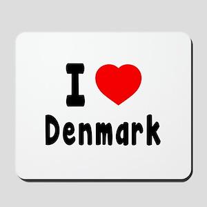 I Love Denmark Mousepad