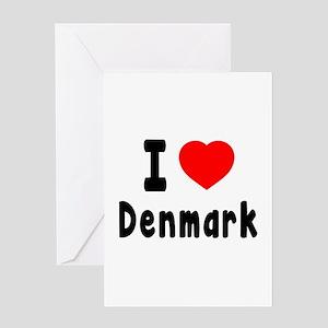I Love Denmark Greeting Card