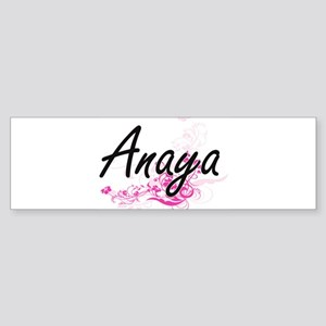 Anaya Artistic Name Design with Flo Bumper Sticker