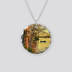 Heading Home Necklace Circle Charm