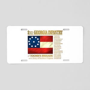 2nd Georgia Infantry Aluminum License Plate