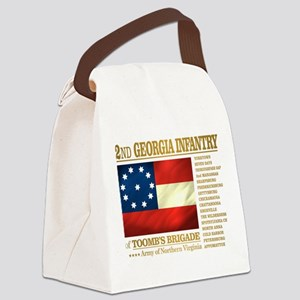 2nd Georgia Infantry Canvas Lunch Bag