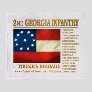 2nd Georgia Infantry Throw Blanket