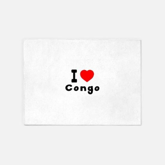 I Love Congo 5'x7'Area Rug