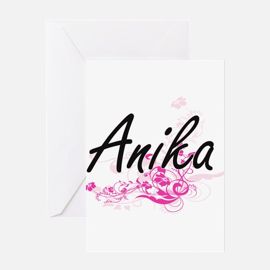 Anika Artistic Name Design with Flo Greeting Cards