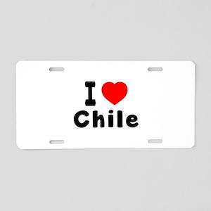 I Love Chile Aluminum License Plate