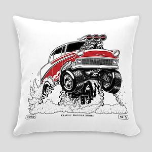 1956 Gasser wheelie-1 Everyday Pillow