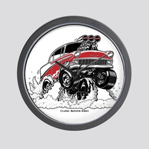 1956 Gasser wheelie-1 Wall Clock