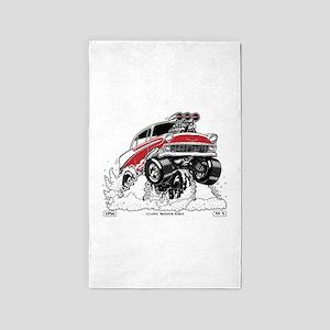 1956 Gasser wheelie-1 Area Rug