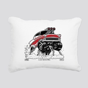 1956 Gasser wheelie-1 Rectangular Canvas Pillow