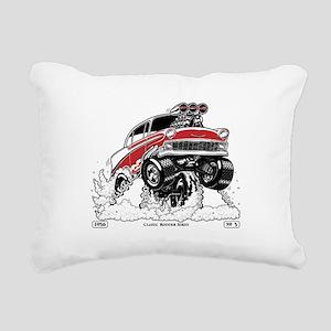 1956 Gasser wheelie-1 Rectangular Canvas Pillow