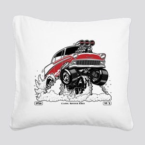 1956 Gasser wheelie-1 Square Canvas Pillow