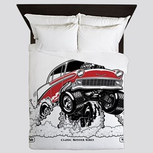 1956 Gasser wheelie-1 Queen Duvet