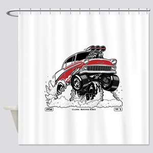 1956 Gasser wheelie-1 Shower Curtain