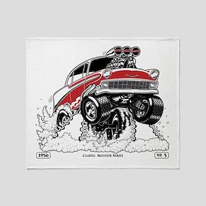 1956 Gasser wheelie-1 Throw Blanket