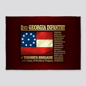 2nd Georgia Infantry 5'x7'Area Rug