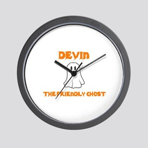 Devin the Friendly Ghost Wall Clock