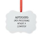 Aspergers Geek Picture Ornament