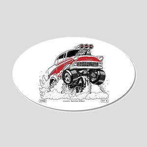 1956 Gasser wheelie-1 Wall Decal
