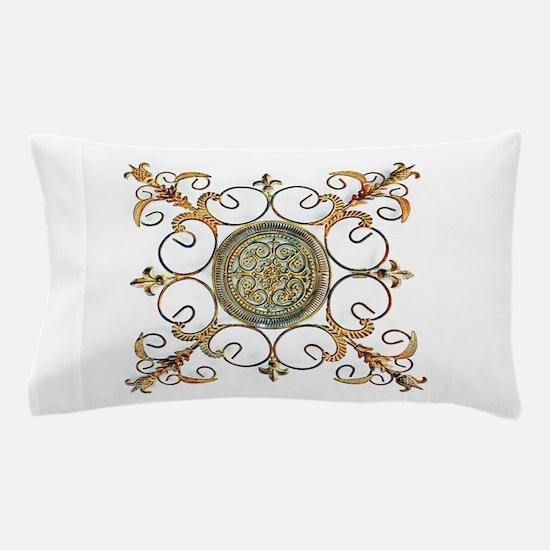 METAL FLORAL ABSTRACT ART DESIGN Pillow Case