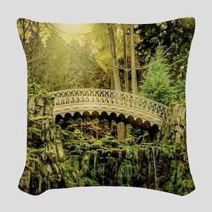 Arching Bridge Woven Throw Pillow