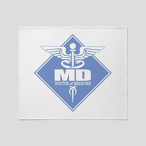 MD (b)(diamond) Throw Blanket
