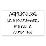 Aspergers Geek Sticker