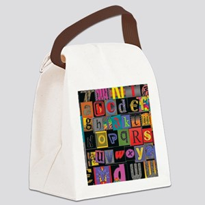ABCDEFG Canvas Lunch Bag