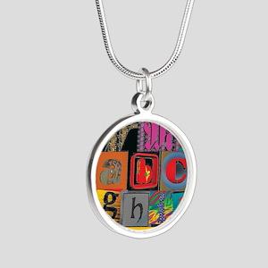 ABCDEFG Silver Round Necklace