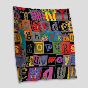 ABCDEFG Burlap Throw Pillow
