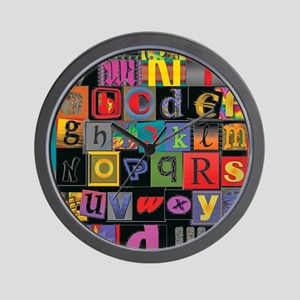 ABCDEFG Wall Clock
