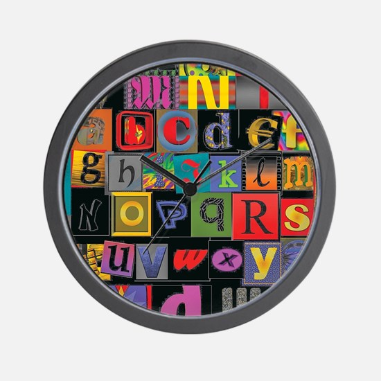 ABCDEFG Wall Clock