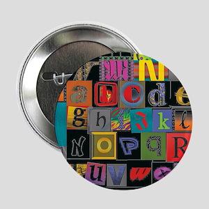 """ABCDEFG 2.25"""" Button"""
