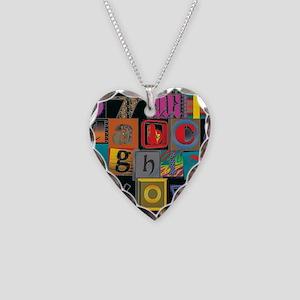ABCDEFG Necklace Heart Charm