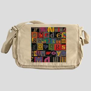 ABCDEFG Messenger Bag